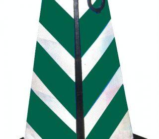 绿白方尖碑