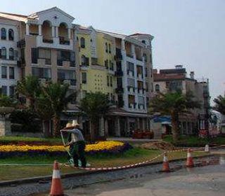 重庆江北奥林匹克花园畅谷商业街车库整改工程施工